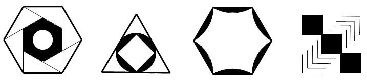 初二数学轴对称图形设计展示_乐乐简笔画