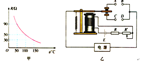 图乙为用此热敏电阻r和继电器组成的一个简单恒温箱温控电路,继电器