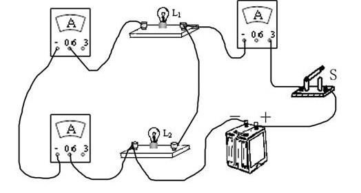 在探究并联电路电流规律的实验中
