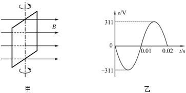 属线框绕与磁场方向垂直的轴匀速转动产生交流电,电动势e随时间t图片