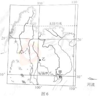 中国气候图手绘简图