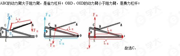 如图所示是一个指甲刀的示意图;它由三个杠杆